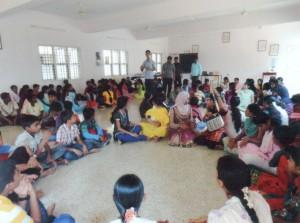 Patenkinder bei einem ihrer Treffen