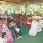 Eröffnung eines Gesundheitscamps für Menschen mit Behinderung