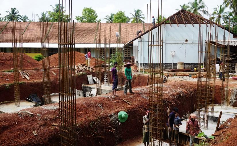 Die Bauarbeiten sind in vollem Gange
